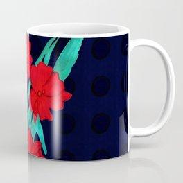 Red flowers gladiolus art nouveau style Coffee Mug