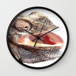 Chameleon with Happy Smiling Expression Vector Wall Clock