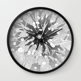 Attaining Happiness Wall Clock