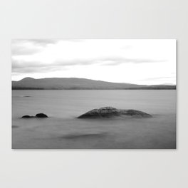 Rocks in Cloudy Water Canvas Print