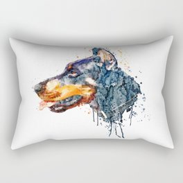 Doberman Head Rectangular Pillow
