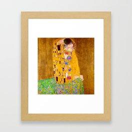 Gustav Klimt - The Kiss - Der Kuss - Vienna Secession Painting Framed Art Print