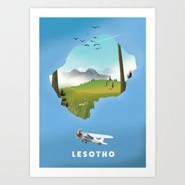 Lesotho Art Print