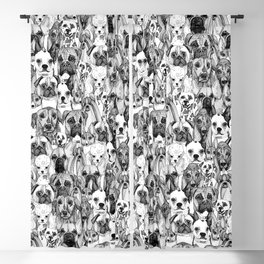 just dogs Blackout Curtain
