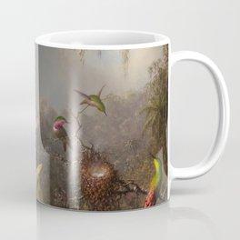 Cattelya Orchid And Three Brazilian Hummingbirds 1 By Martin Johnson Heade | Reproduction Coffee Mug