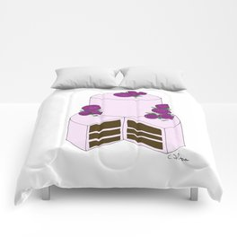 T W O  L A Y E R  C H O C O L A T E w/ROSES Comforters