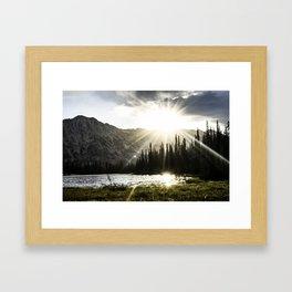 Good Morning Hidden Lake  Framed Art Print