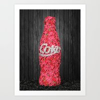 Flower Coke Art Print