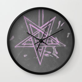 Unholy in Pink Sigil Wall Clock
