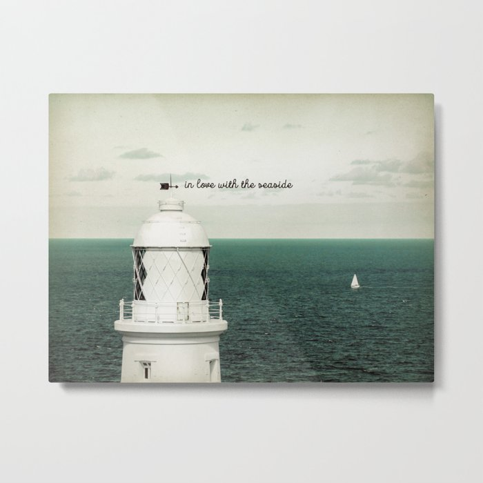 Seaside Lighthouse Metal Print