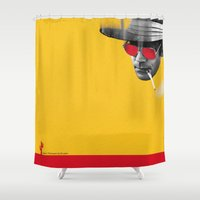 hunter s thompson Shower Curtains featuring Hunter S. Thompson by Zmudart