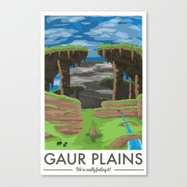 Gaur Plains (Xenoblade Chronicles) Travel Poster Canvas Print