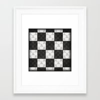 chess Framed Art Prints featuring Chess by FYLLAYTA, surface design,Tina Olsson