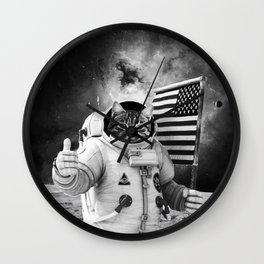 SPACE AMERICAN CAT Wall Clock