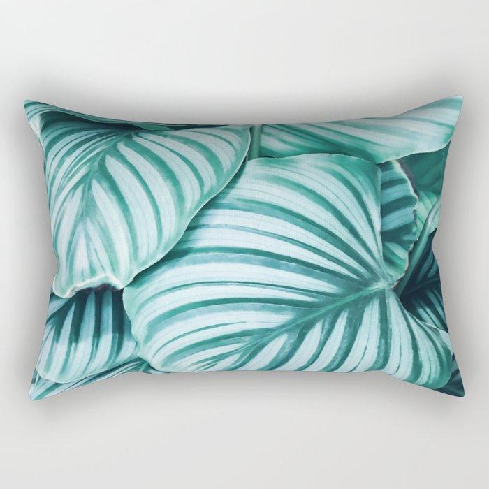 Long embrace - teal green Rectangular Pillow