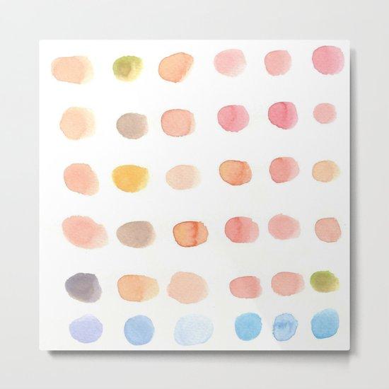 water color dot Metal Print