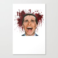 american psycho Canvas Prints featuring American Psycho by mMel