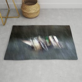 Duck Fight Digital Abstract Rug