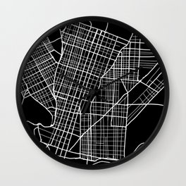West Philly Map Wall Clock