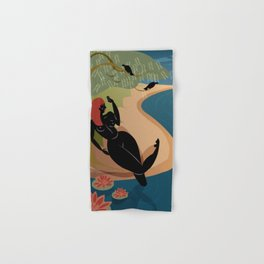 Kuan Yin Beneath a Willow Hand & Bath Towel