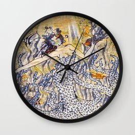 Coral Queen Wall Clock