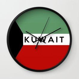 flag of Kuwait Wall Clock