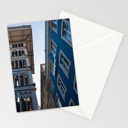 Santa Justa Lift architecture, Lisbon, Portugal Stationery Cards