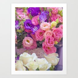 Rosy Bouquet from Eastern Market ~ DC Art Print