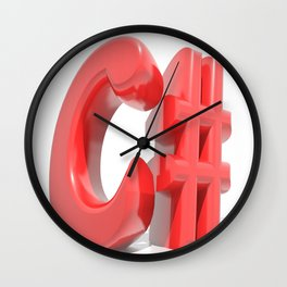 C# Red Wall Clock