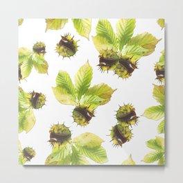 Chestnuts seamless pattern Metal Print