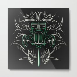 Hot Rod Pinstriping Metal Print