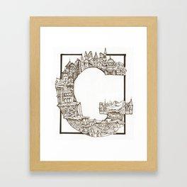 G is for Gangster Framed Art Print