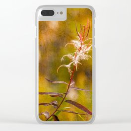 Autumn Blooms Clear iPhone Case