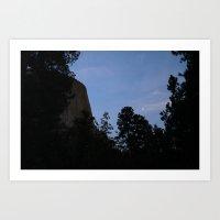 Devil's Tower at Sunset Art Print