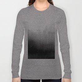 Modern Black and White Watercolor Gradient Langarmshirt