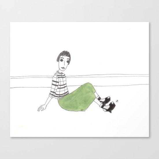 girl on the floor Canvas Print