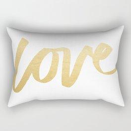 Love Gold White Type Rectangular Pillow