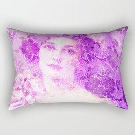 Beautiful female from Victorian era, Belle epoque,art nouveau, vintage,lace,elegant,chic,modern,tren Rectangular Pillow