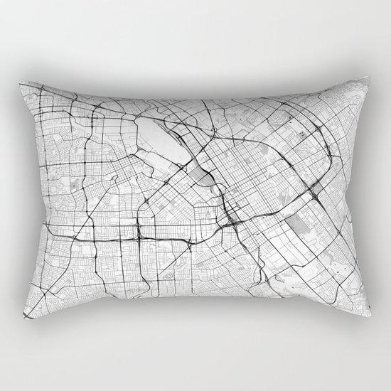 San Jose Map Gray Rectangular Pillow