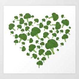 I Love Broccoli Art Print