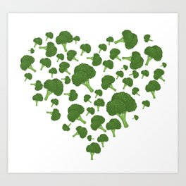I Love Broccoli Art Print