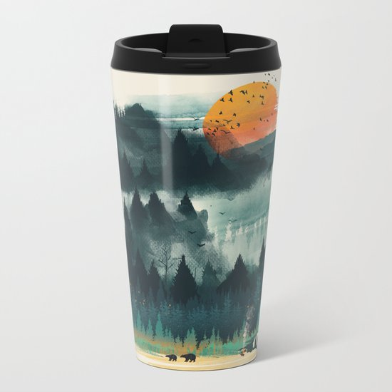 Wilderness Camp Metal Travel Mug