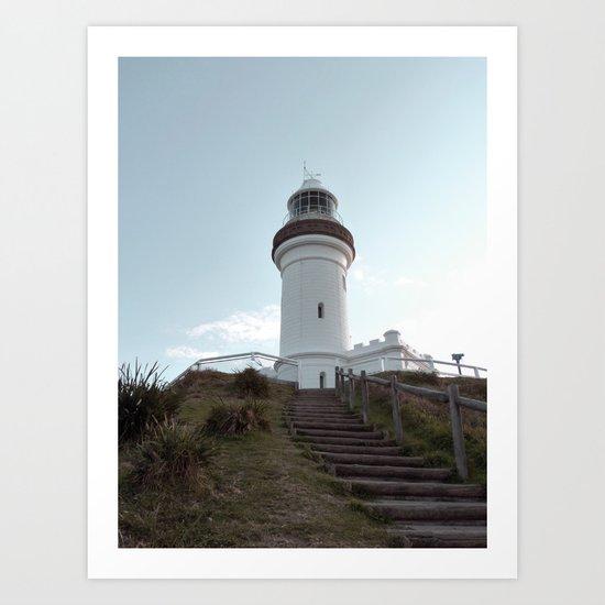 Lighthouse in Byron Bay, Australia Art Print