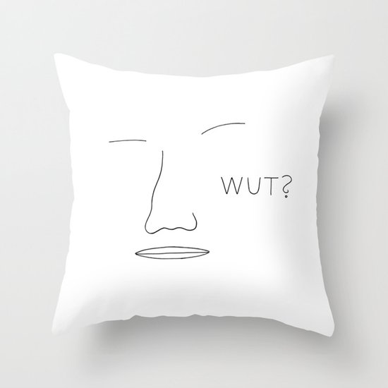 Come again? Throw Pillow