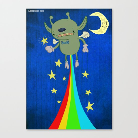 Farting stars and rainbows  Canvas Print
