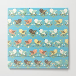 Assorted birds pattern Metal Print
