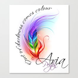 Aria's author tag Canvas Print