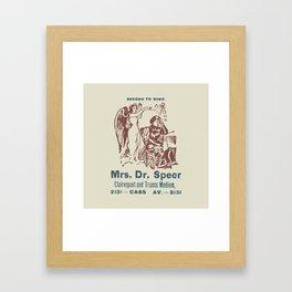 Mrs. Dr. Speer Framed Art Print