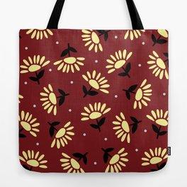 Ethnic flowers Tote Bag