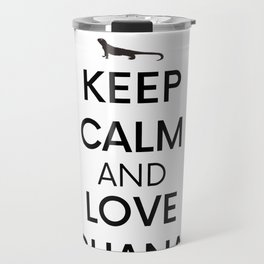 Iguana Keep Calm Reptile Hobby Pet Gift Travel Mug